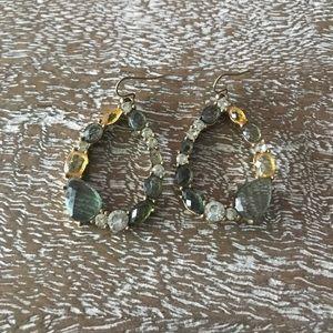 New Anthropologie Jeweled Teardrop Earrings
